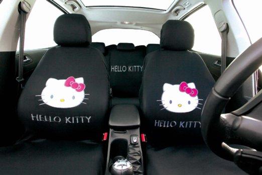 Woltu 7247-b Coprisedile Copertura Sedile Auto Seat Cover Completo Poliestere Universale Donna Farfalle Comodo Nero//Rosa